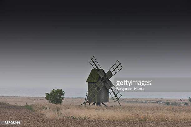 Old windmill on farm