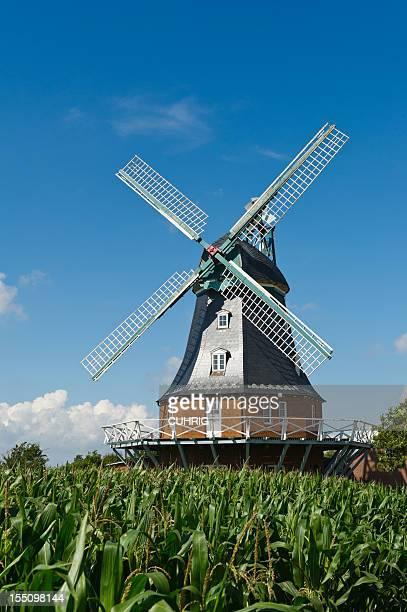 old Windmill on Foehr in German Northsea