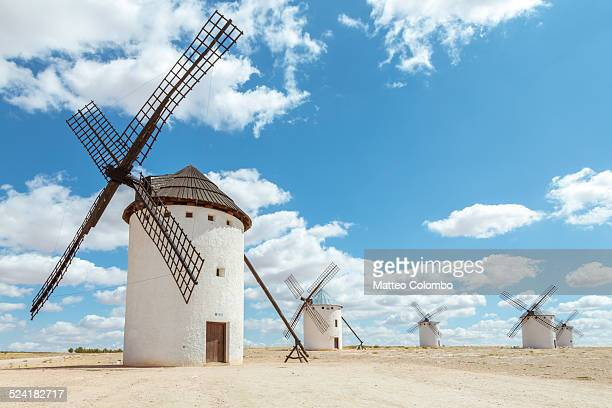 Old windmills on the Route of Don Quixote, Spain