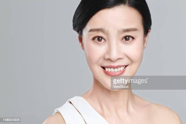 Old woman makeup portrait