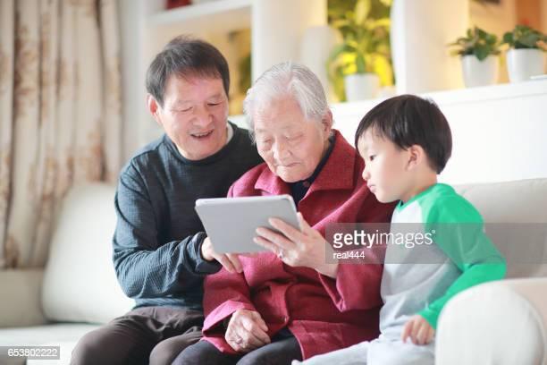 Old Woman Using laptop