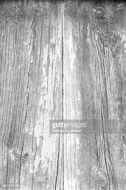 Old wood board wall texture background in black&white.