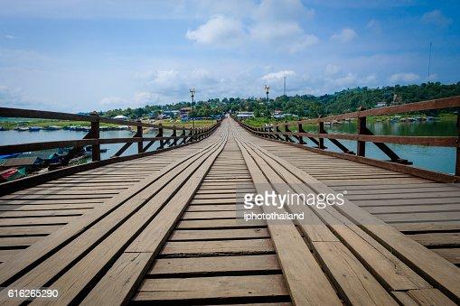 Old wood bridg : Stock Photo