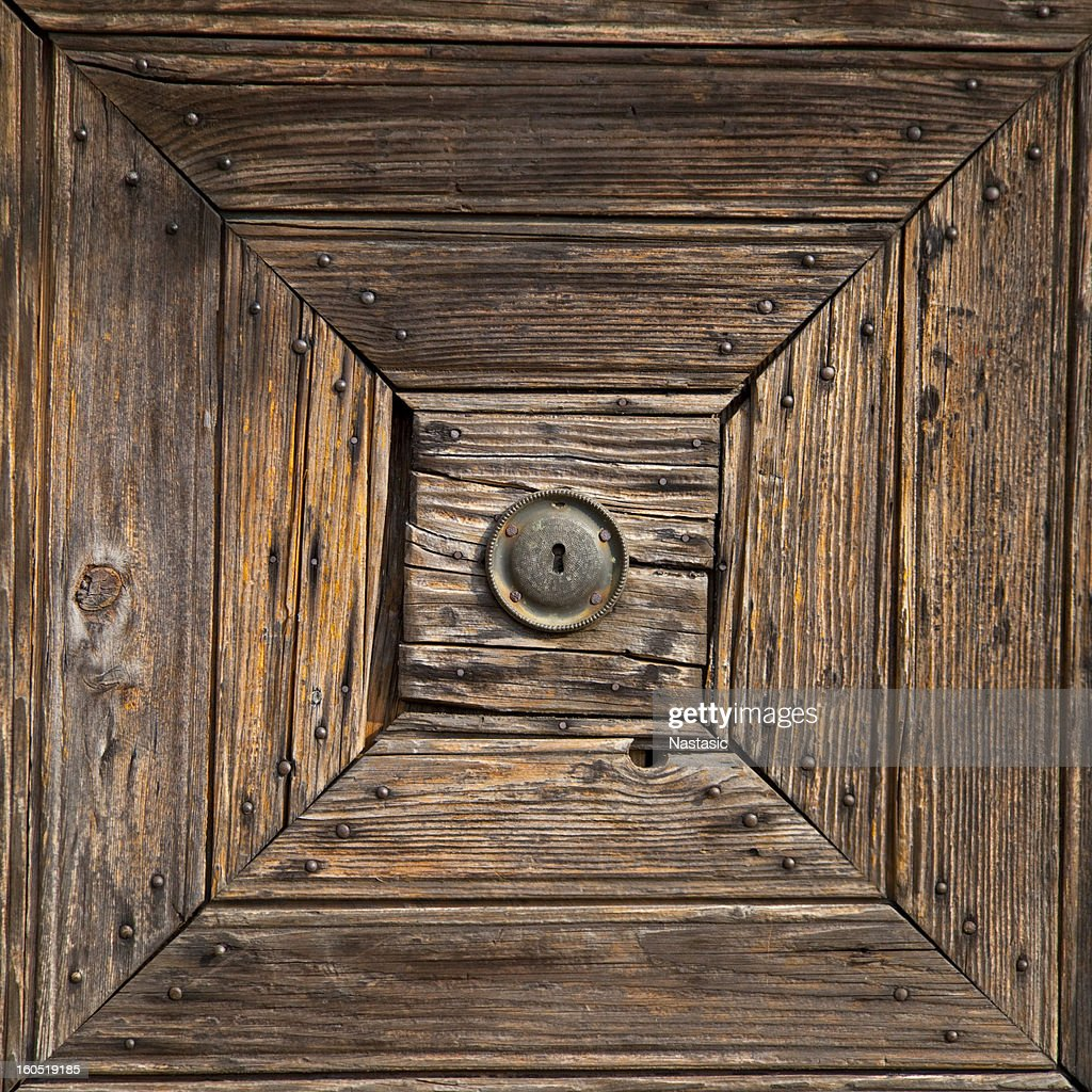 Old Wood Door Keyhole Detail Stock Photo | Getty Images