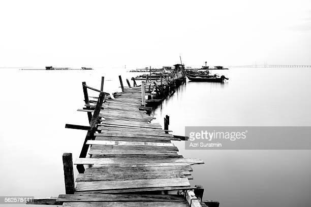 Old wood fisherman jetty