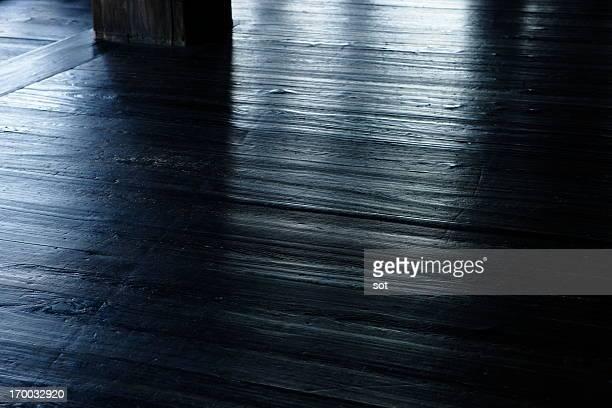 Old wood floor of temple
