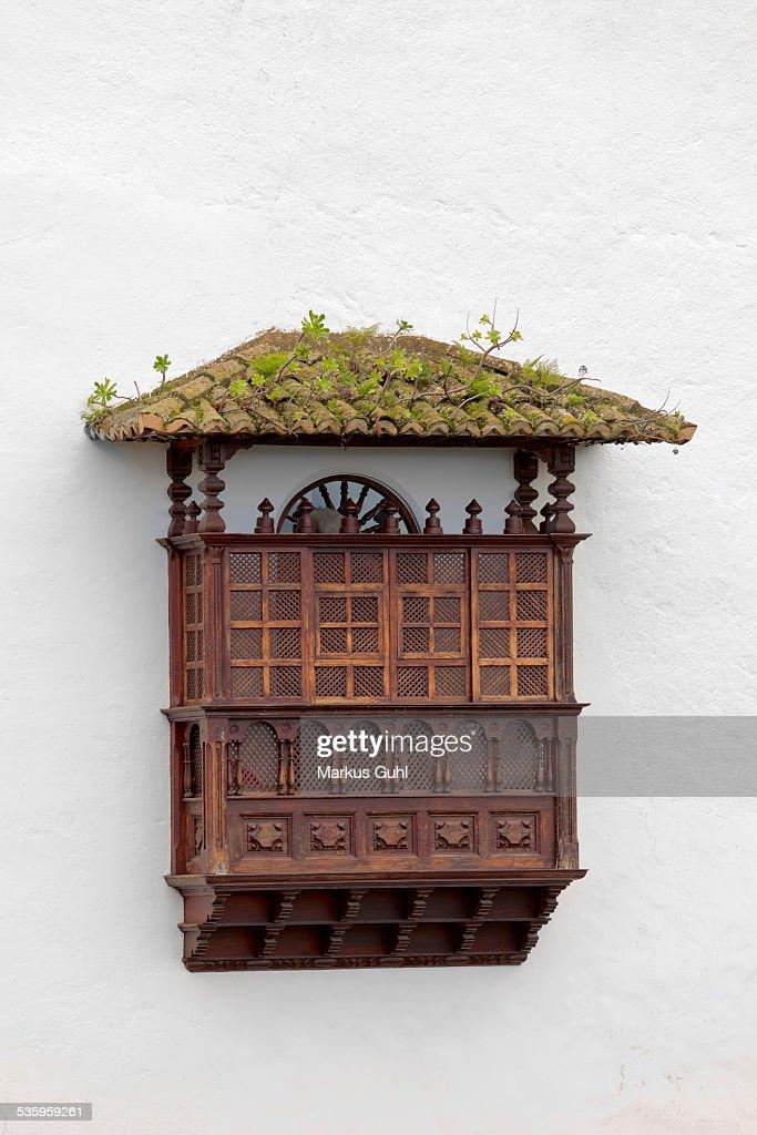 Old wooden balcony : Stock Photo