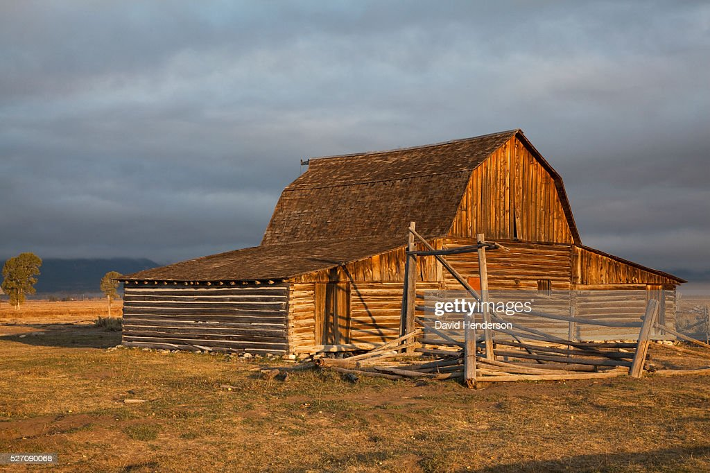 Old wooden barn, Wyoming, USA : Stockfoto