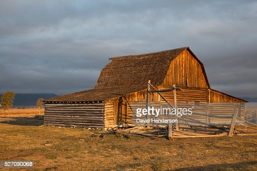 Old wooden barn, Wyoming, USA : Stock-Foto