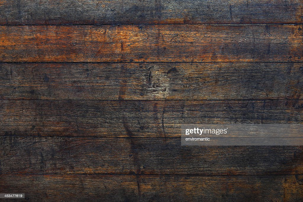 Old wooden floor board background. : Stock Photo