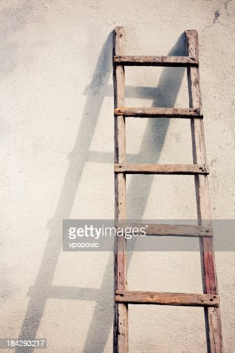 Old wooden ladders