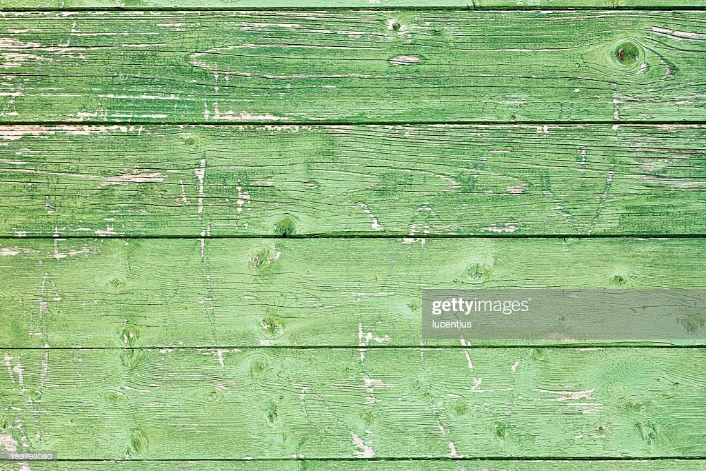 Old green wood panels