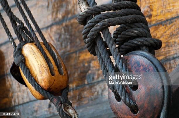 古い木製船の詳細