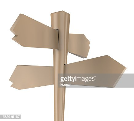 Old wooden sign : Stock Photo