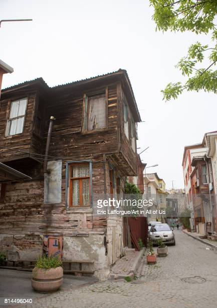 Old wooden style house near the Bosphorus sea Marmara Region Istanbul Turkey on April 27 2014 in Istanbul Turkey