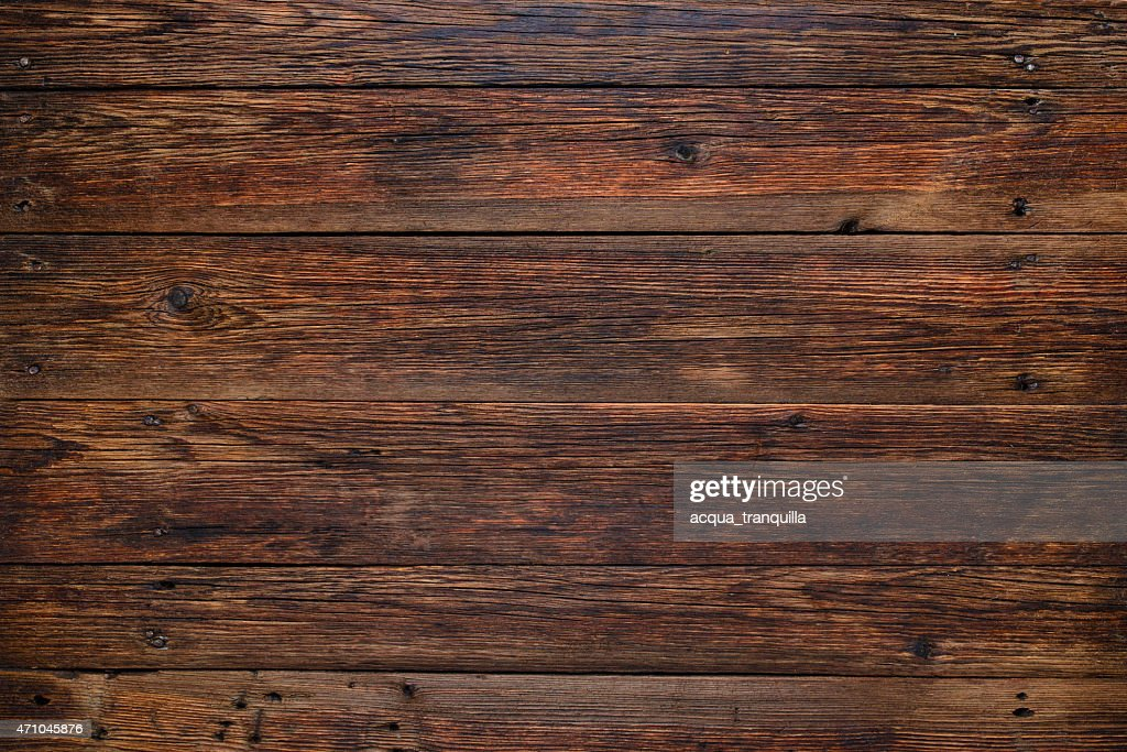 Old Wooden Table Background, Rustic Wooden Surface With Copy Space : Stock  Photo