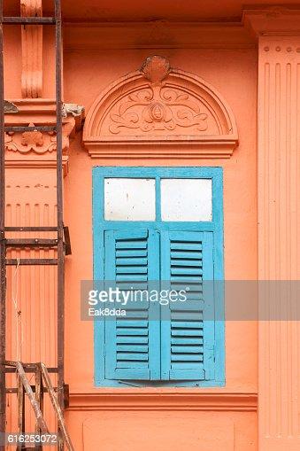 Old ventanas de madera  : Foto de stock