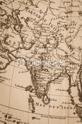 Old world map india stock photo thinkstock old world map india gumiabroncs Choice Image