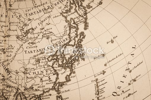 Old world map japan and east asia stock photo thinkstock old world map japan and east asia stock photo gumiabroncs Images