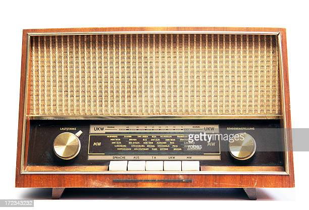 Old worn radio