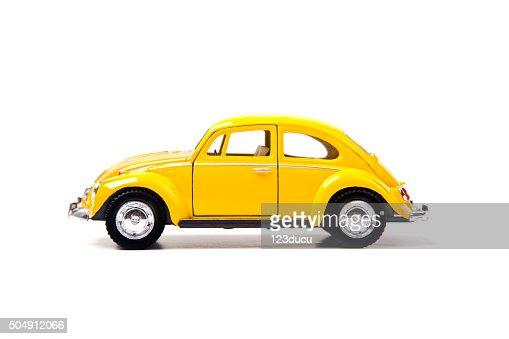 Old Yellow Volkswagen Beetle