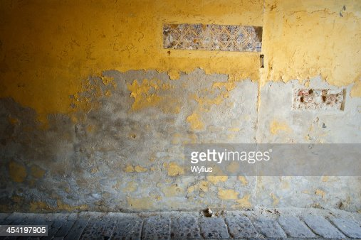 Old yellow wall : Stock Photo