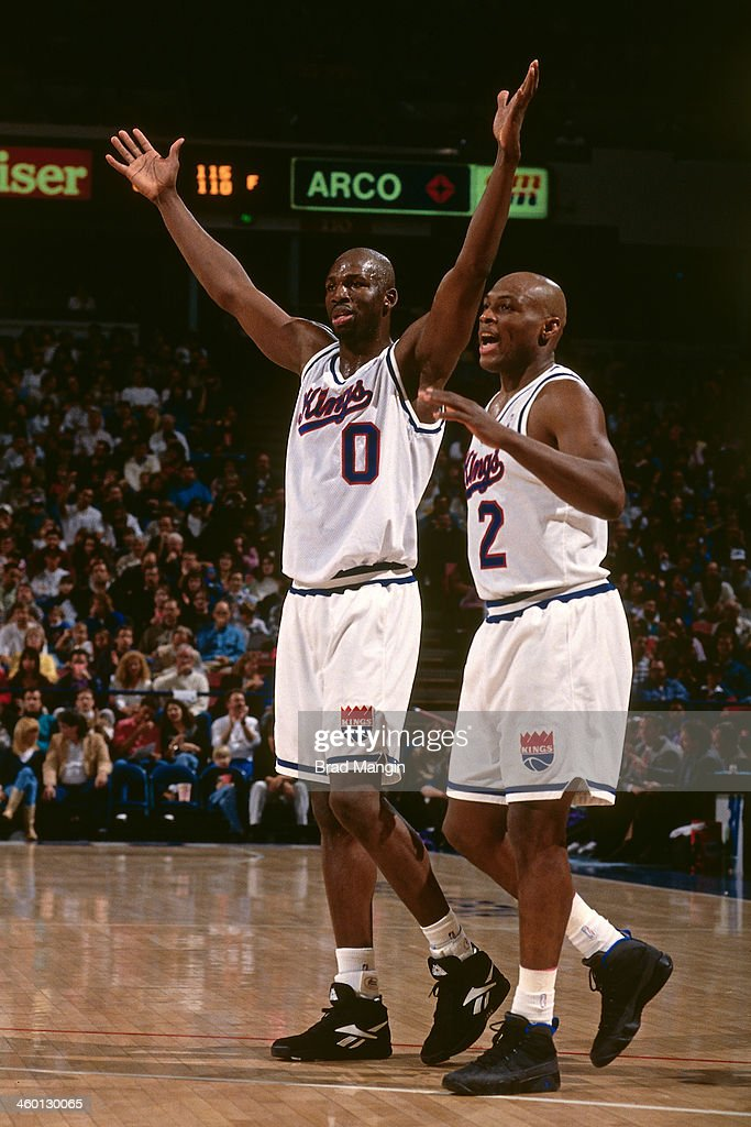 ... Olden Polynice 0 and Mitch Richmond 2 of the Sacramento Kings celebrate  during ... 510b01d4c