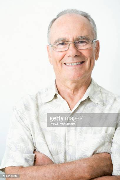 Older Caucasian man smiling
