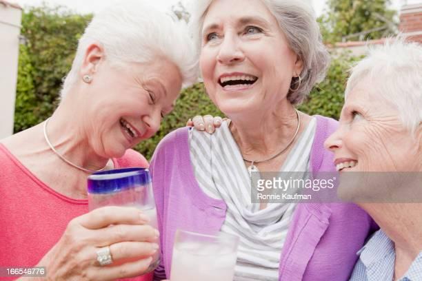 Older Caucasian women smiling