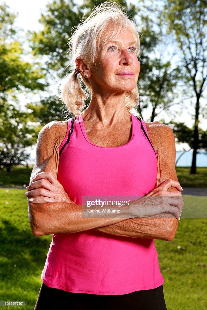 Fitness mature woman — Stock Photo © alanpoulson #60627169