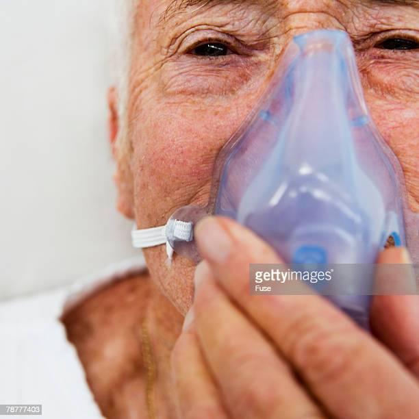 Older Man Getting Oxygen
