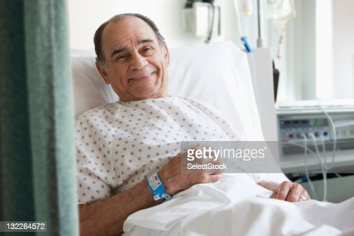 Images Of Sick Old Me In Hospital Bed : Older man in hospital bed