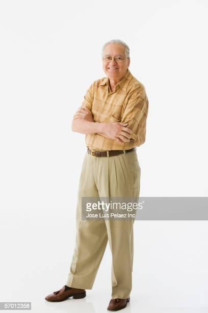 Older man posing for the camera