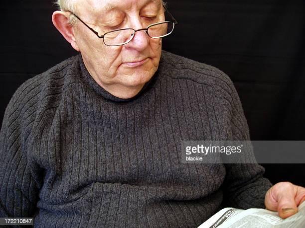 Older Man Reading the Newspaper