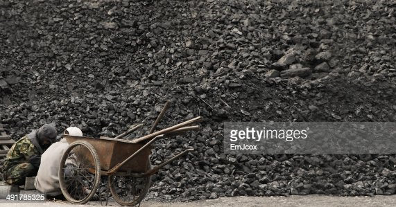 Older Men Working Hard in China : Stock Photo