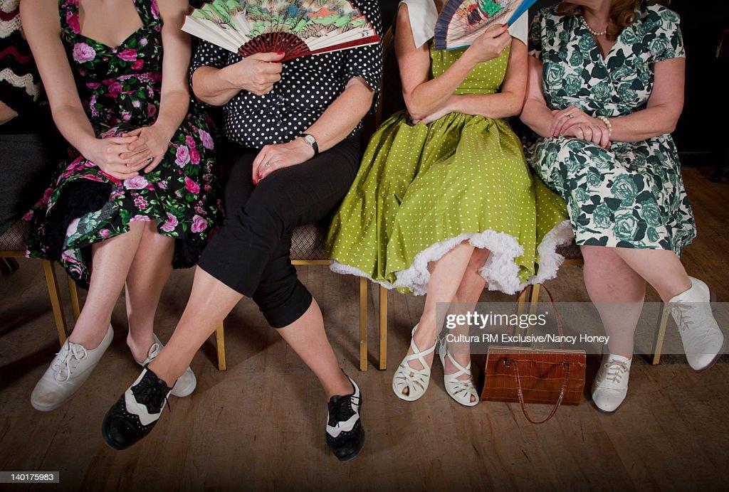 Older women sitting together : Stock Photo