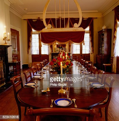 Old fashioned dining room tables