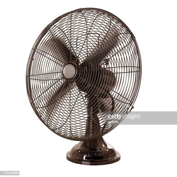 Altmodische-Fan, die isoliert auf weißem Hintergrund
