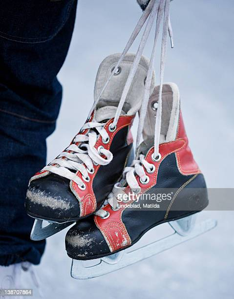 Old-fashioned ice skates