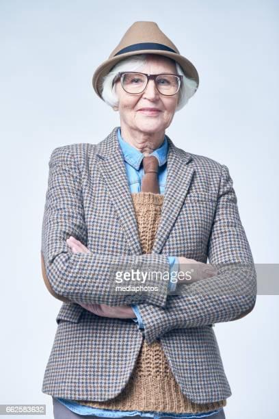 Old-fashioned senior woman