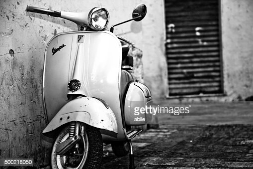 oldstyle vespa scooter stock photo getty images. Black Bedroom Furniture Sets. Home Design Ideas