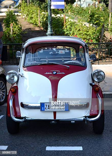 Oldtimer BMW Isetta 300 frontal rotweiss Monte Carlo 102013