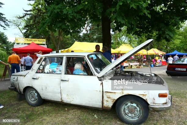 Oldtimer show held in Otwock presenting Polish cars of communistic era US and European vehicles