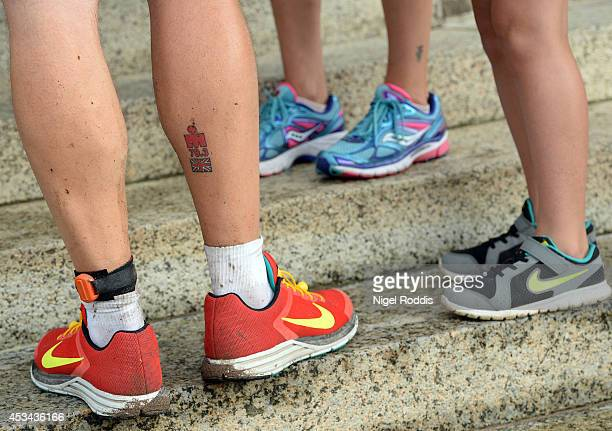 Triathlon tattoo stock photos and pictures getty images for Tattoo ole copenhagen