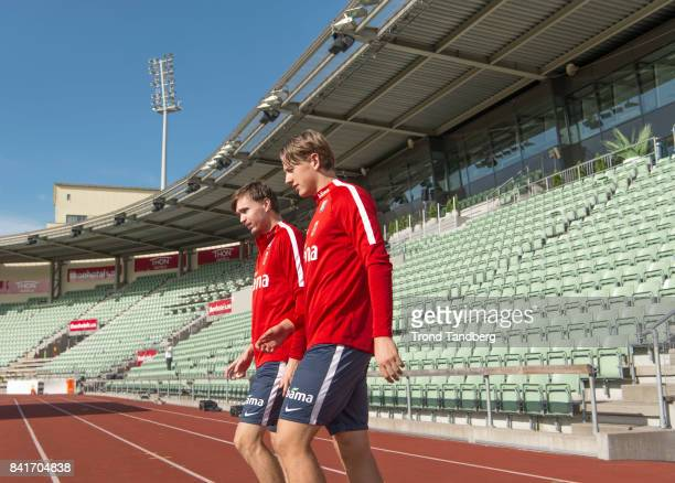 Ole Kristian Selnaes Sander Berge of Norway during the FIFA 2018 World Cup Qualifier training between Norway and Aserbajdsjan at Bislett Stadion on...