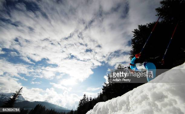 Ole Tsukasa Kobonoki of Japan in action during the Men's 4x 75km relay competition of the IBU World Championships Biathlon 2017 at the Biathlon...