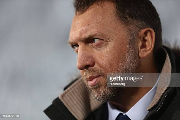 Oleg Deripaska billionaire and president of United Co Rusal looks on during a Bloomberg Television interview at the World Economic Forum in Davos...