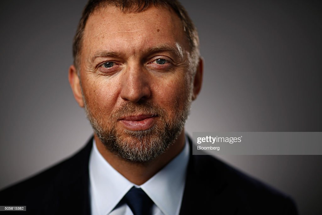 Oleg Deripaska billionaire and president of United Co Rusal poses for a photograph following a Bloomberg Television interview in Davos Switzerland on...