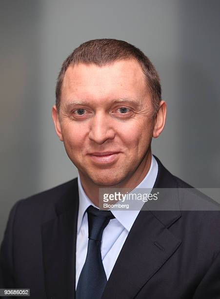 Oleg Deripaska chief executive officer of United Co Rusal pauses during an interview at the Bloomberg office in London UK on Thursday Dec 3 2009...
