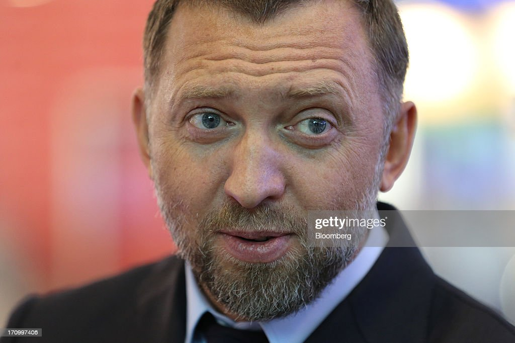 Oleg Deripaska Russian billionaire and chief executive officer of United Co Rusal pauses on the opening day of the St Petersburg International...